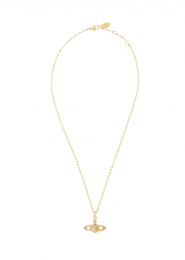 Vivienne Westwood Accessories Mini Bas Relief Pendant - Gold