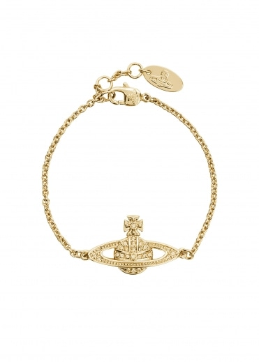 Vivienne Westwood Accessories Mini BR Bracelet Chain - Gold