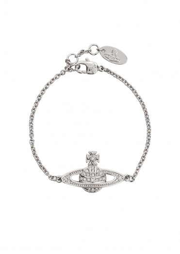Vivienne Westwood Accessories Mini BR Bracelet Chain - Rhodium