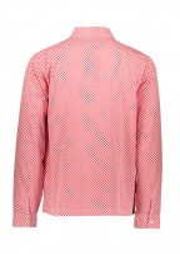 Mini Check Full Zip Shirt - Red