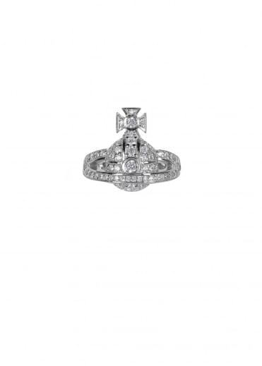 Vivienne Westwood Accessories Mini Orb Ring - Rhodium