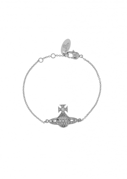 Minnie Bas Relief Bracelet - Rhodium
