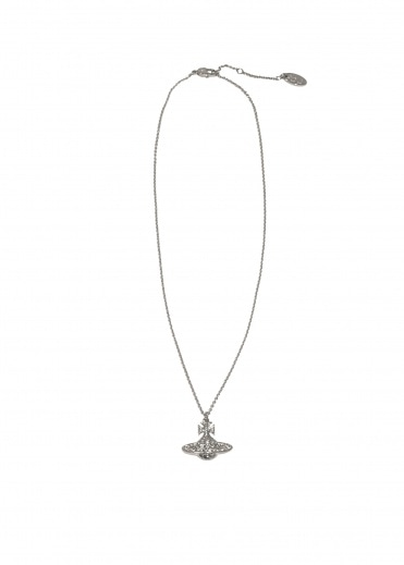 Vivienne Westwood Accessories Minnie Bas Relief Pendant - Rhodium