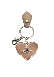 Vivienne Westwood Accessories Mirror Heart Keyring - Beige