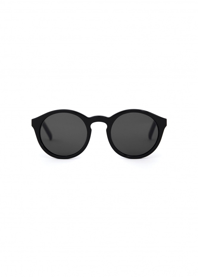 Barstow Sunglasses - Black With Solid Grey Lenses