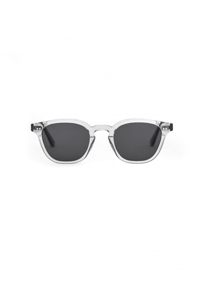 River Sunglasses - Grey With Solid Grey Lenses