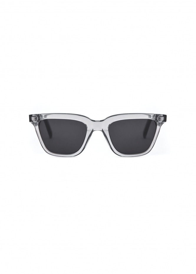 Robotnik Sunglasses - Clear Grey With Solid Grey Lenses