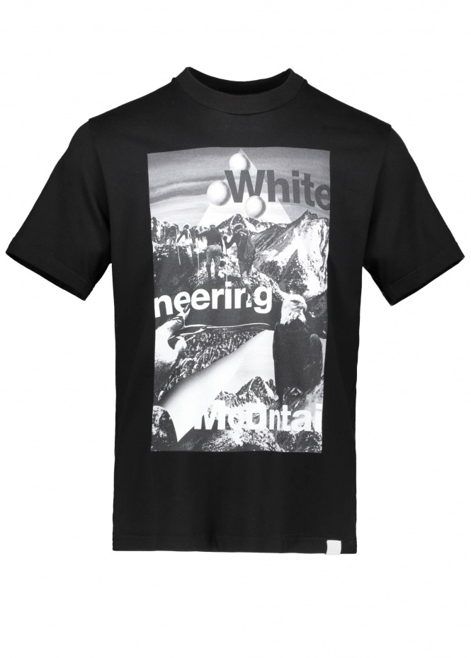 White Mountaineering Mountain Collage Tee - Black