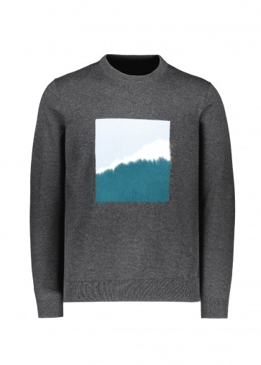 Paul Smith Mountain Window Knit Jumper - Black / Blue
