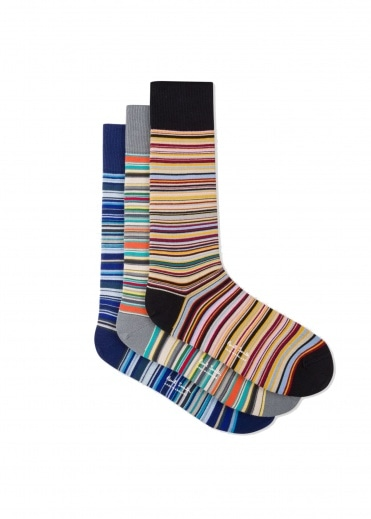 Paul Smith Multistripe Sock - Multi