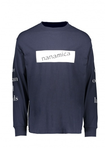 Nanamica LS Graphic Tee - Navy