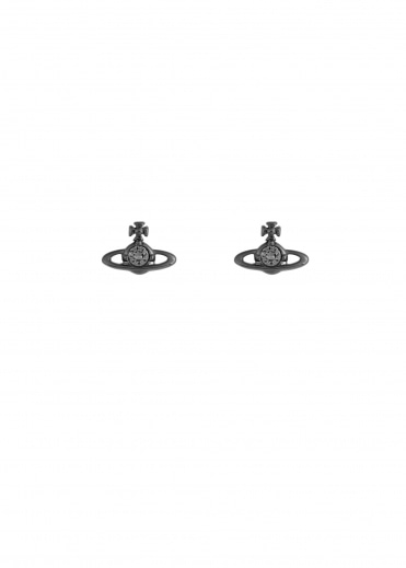 Vivienne Westwood Accessories Nano Solitaire Earrings - Gunmetal