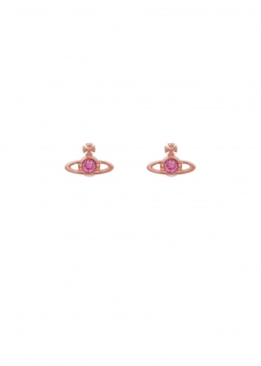 Vivienne Westwood Accessories Nano Solitaire Earrings - Pink Gold
