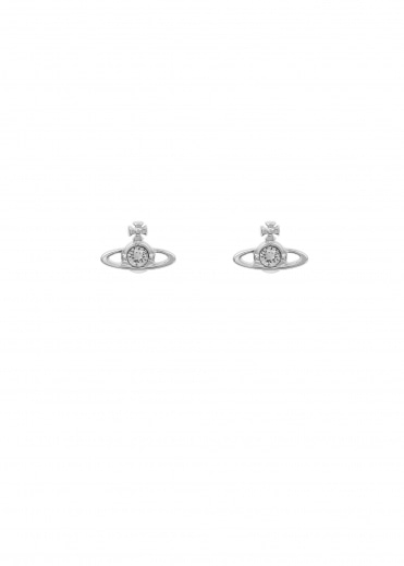 Vivienne Westwood Accessories Nano Solitaire Earrings - Rhodium