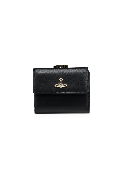 Nappa Medium Wallet - Black
