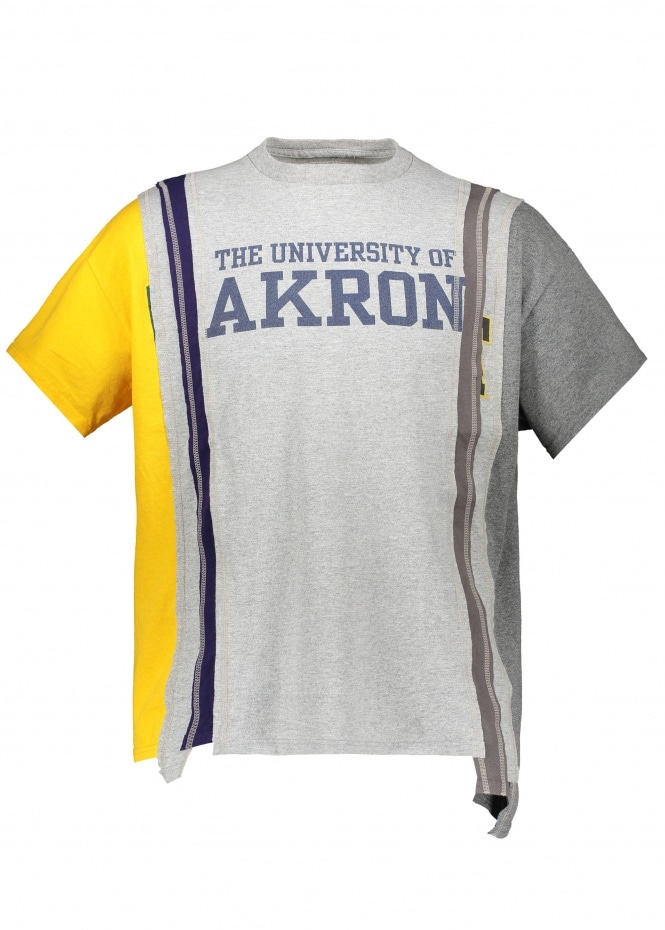 Needles 7 Cuts Wide College Tee - Grey