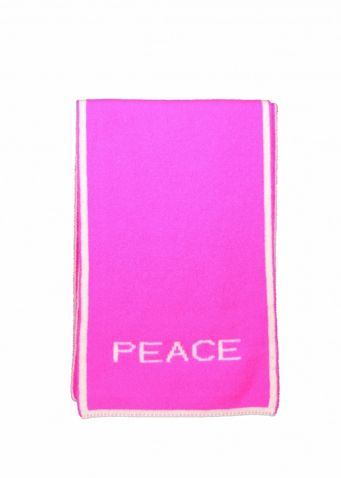 Paul Smith Neon Peace Love Scarf - Pink