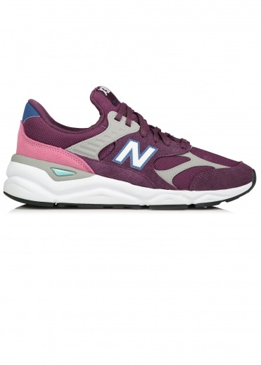 New Balance  X-90 Trainers - Burgundy