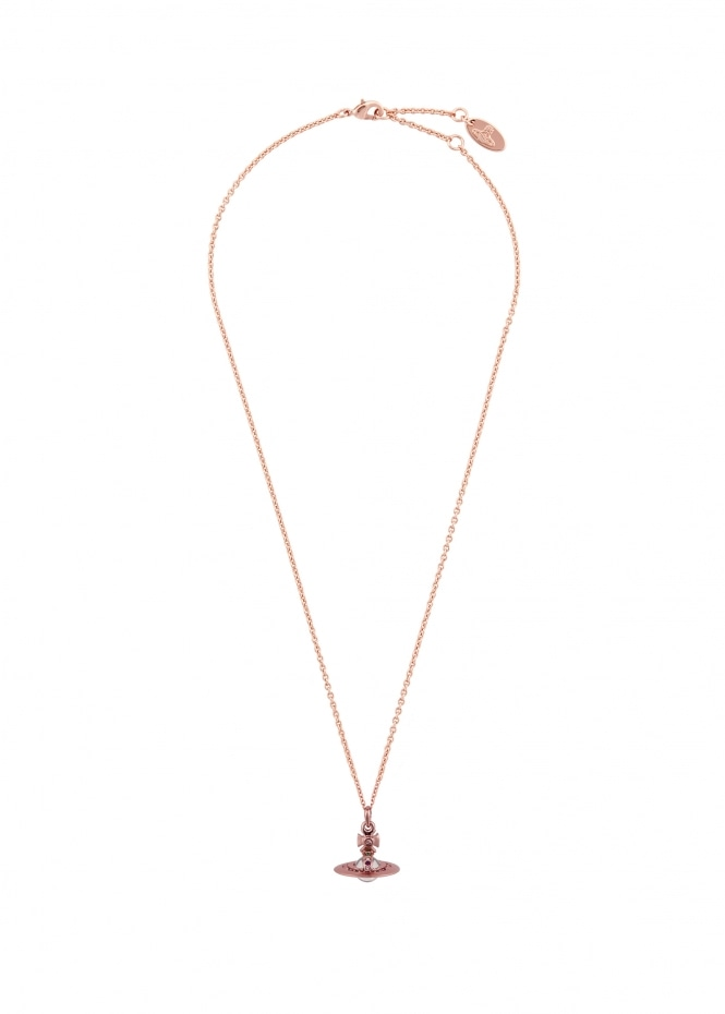 New Tiny Orb Pendant - Pink Gold