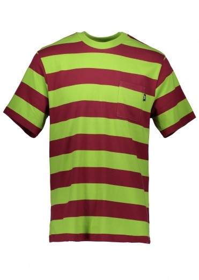 Stussy Nolan Stripe S/SL Jersey - Lime