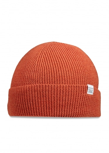 Norse Projects Norse Rib Beanie - Burned Red