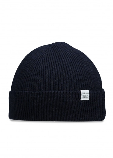 Norse Projects Norse Rib Beanie - Dark Navy