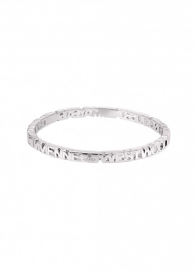 Nottingham Bangle - Rhodium