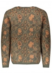Beams Plus Nylon Mohair Wool Cardigan - Olive