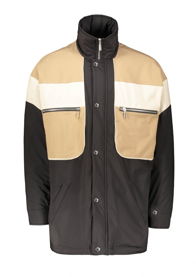 Drôle de Monsieur Nylon Paneled Jacket - Black
