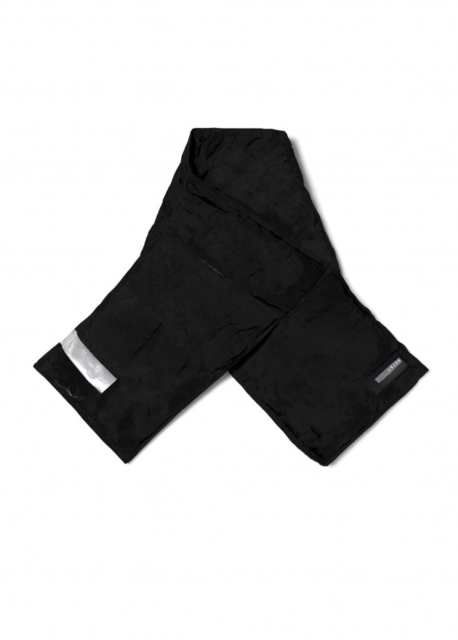 Aries Nylon Quilted Scarf - Black