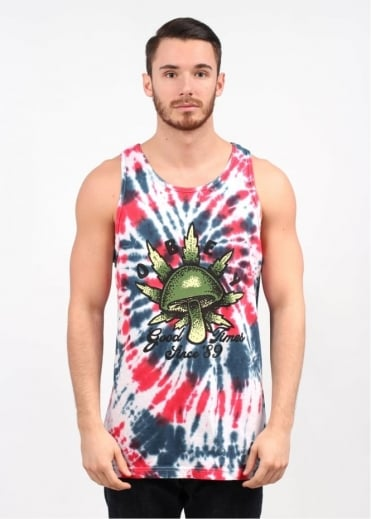 Obey Good Times 89 Tank Top - Americana Spiral