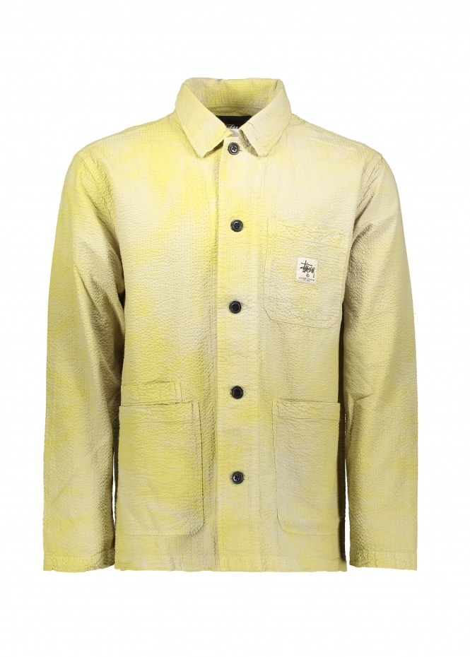 O'Dyed Seersucker Chore Jacket - Lemon