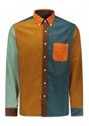 Beams Plus Orange Collar Shirt - Orange