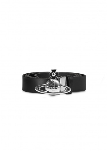 Vivienne Westwood Accessories Orb Buckle Palladio Belt - Black