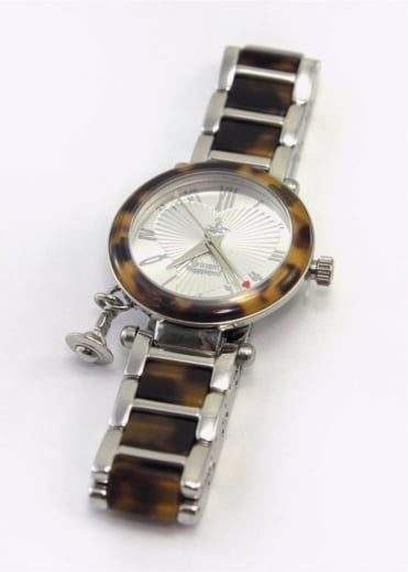 Vivienne Westwood Anglomania Orb Watch Silver/Tortoise