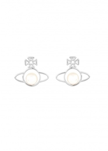 Vivienne Westwood Accessories Otavia Orb Small Earrings - Rhodium