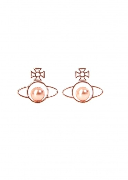 Vivienne Westwood Accessories Otavia Orb Small Earrings - Rose Gold Pearl