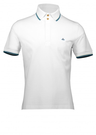 Vivienne Westwood Mens Overlock Polo - Off White