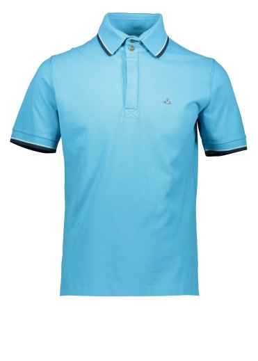 Vivienne Westwood Mens Overlock Polo - Turquoise