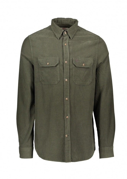 Ovik Cord Shirt - Deep Forest