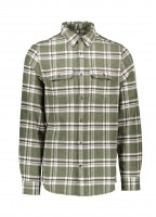 Ovik Heavy Flannel Shirt - Deep Forest