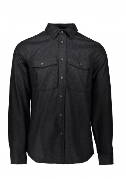 Fjallraven Ovik Re-Wool Shirt LS - Dark Grey