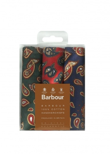 Barbour Paisley Hankie Set Assorted