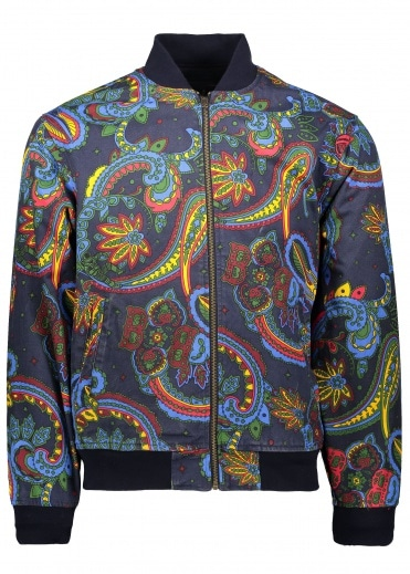 Billionaire Boys Club Paisley Reversible Bomber Jacket - Blue