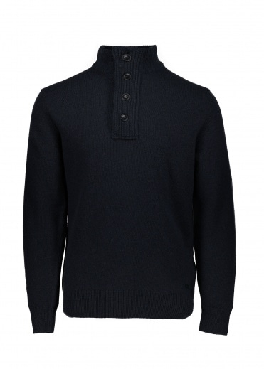 Barbour Patch Half Zip - Navy