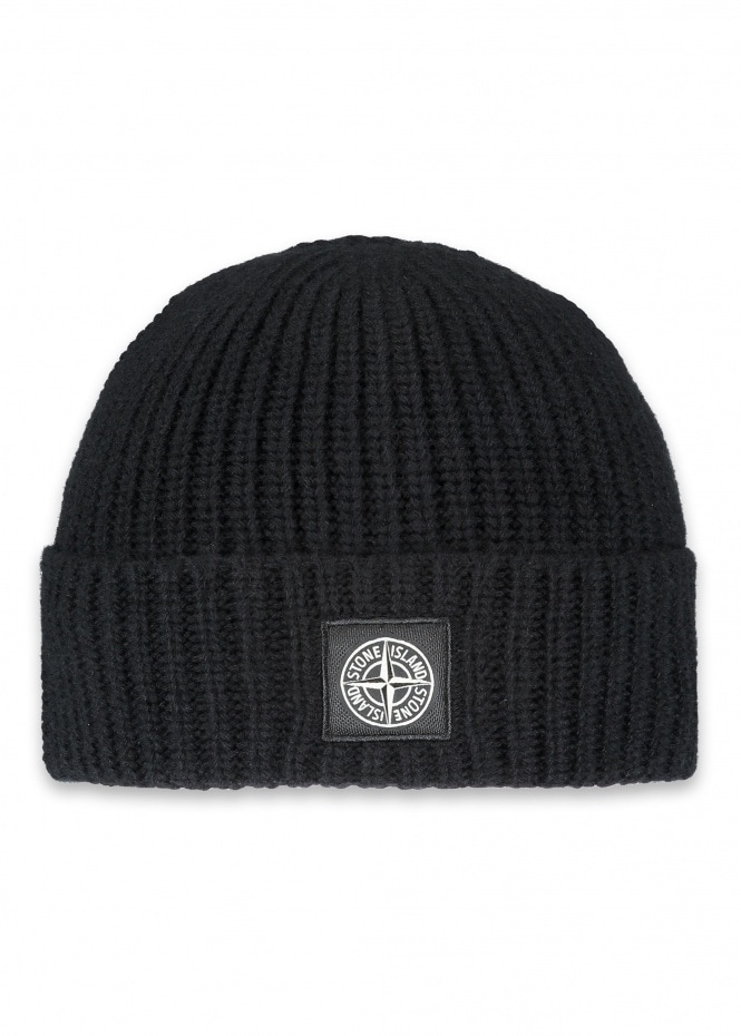Patch Logo Beanie - Black