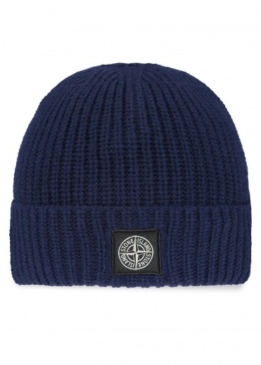 Stone Island Patch Logo Beanie - Ink