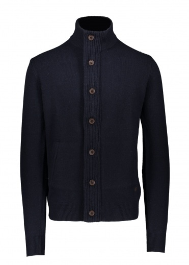Barbour Patch Zip Thru - Navy