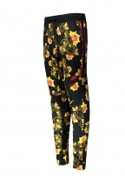 Pattern Track Pant - Black / Yellow