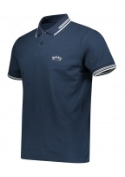 Paul Curved Polo Shirt - Blue